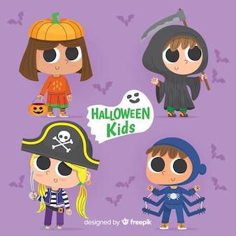Enfants de Halloween dessinés à la main