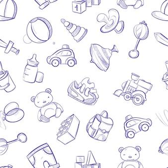 Enfants doodle fond de vecteur