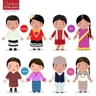 Enfants du monde-maldives-inde-bhoutan-népal