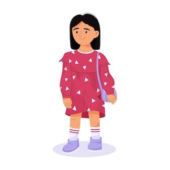 Enfants élégants concept enfant en tenue décontractée