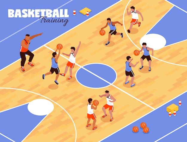 Enfants équipe de basket-ball fond