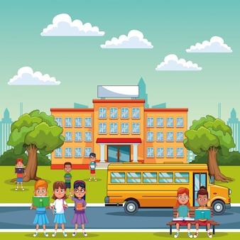 Enfants étudiants à l'école