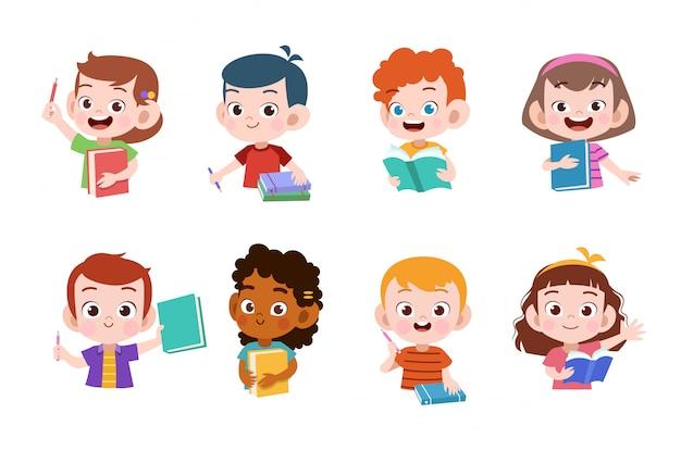 Les enfants étudient