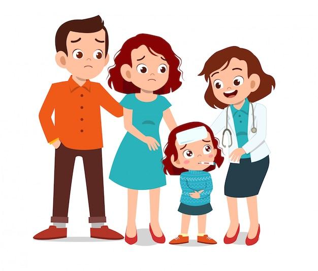 Enfants avec examen médecin