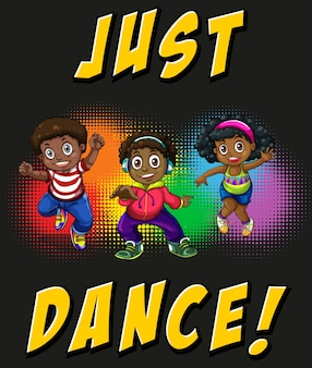 Enfants faisant de la danse hip-hop