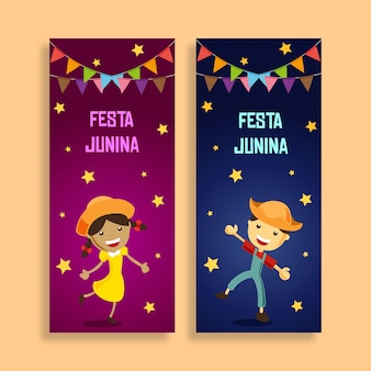 Enfants festa junina banner
