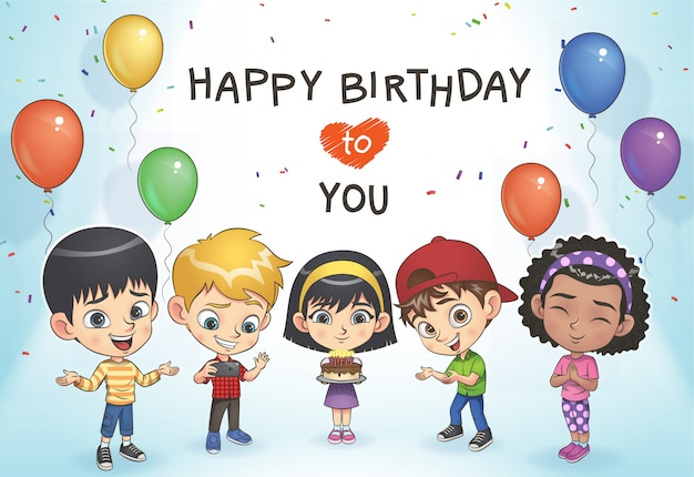 Les enfants fêtent leur anniversaire
