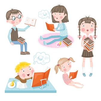 Les enfants font des cours