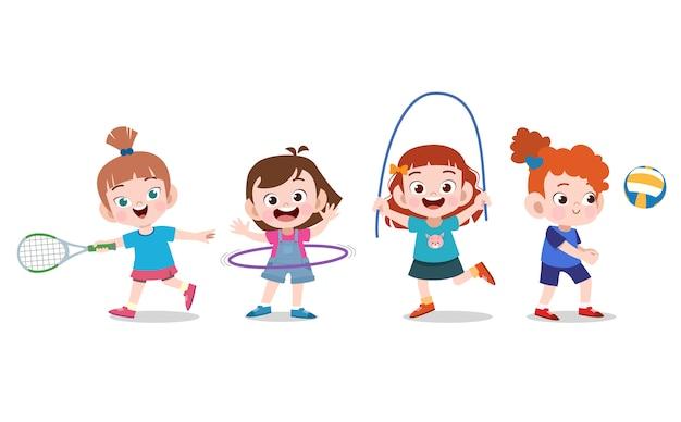 Les enfants font du sport