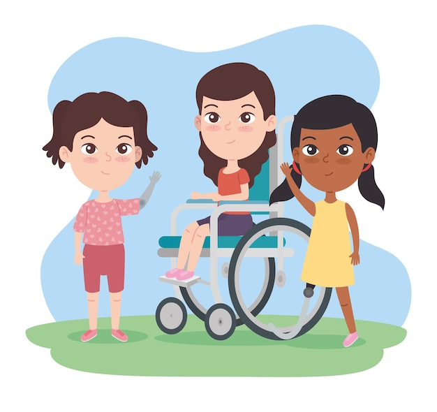 Enfants handicapés filles