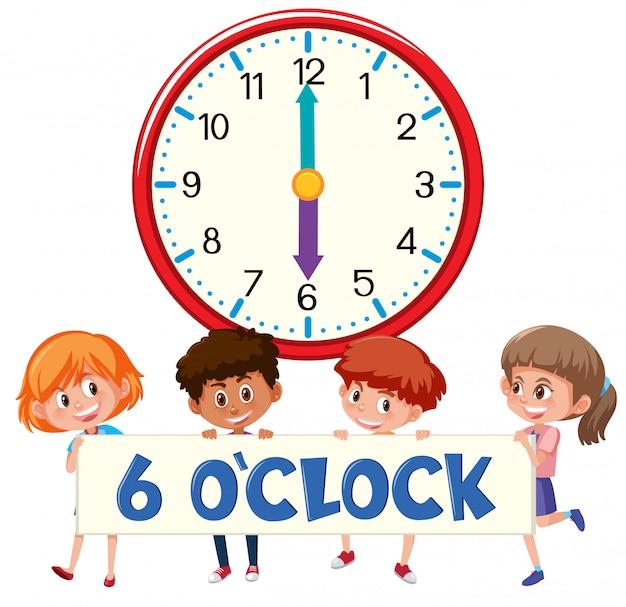Enfants et heure 6 heures