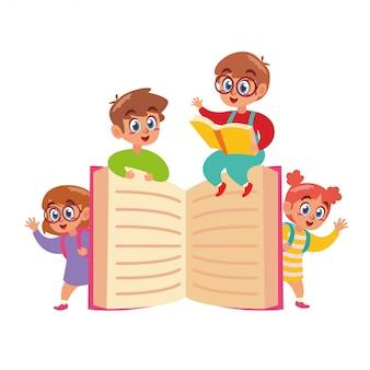 Enfants heureux de retour à l'école
