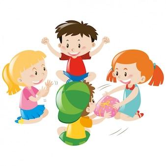 Enfants jouant la conception