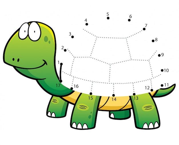 Les enfants jouent la tortue à pois