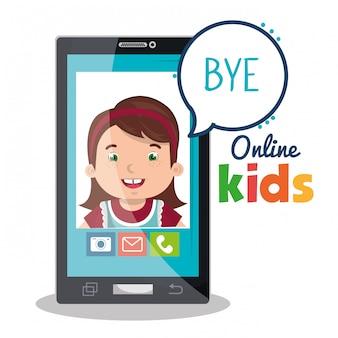 Enfants en ligne