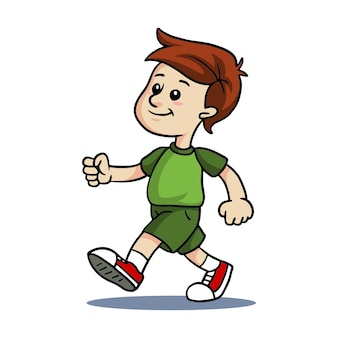 Enfants marchant