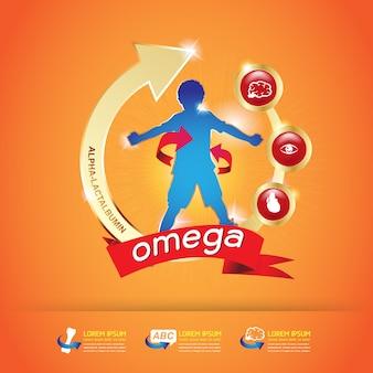 Enfants omega calcium et vitamine