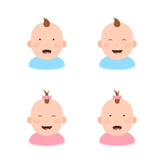 Enfants avec les premières dents