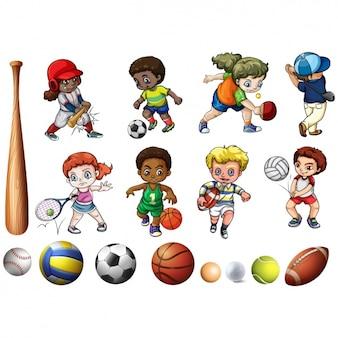 Les enfants qui pratiquent le sport