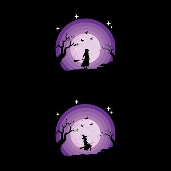 Les enfants rêvent sur la conception du logo de la lune