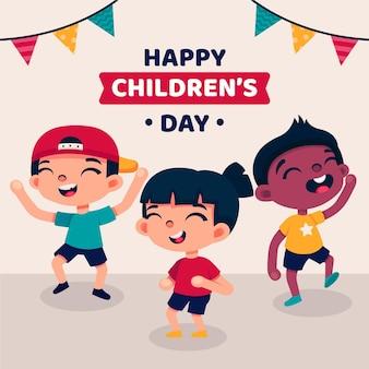 Enfants riant la journée mondiale des enfants