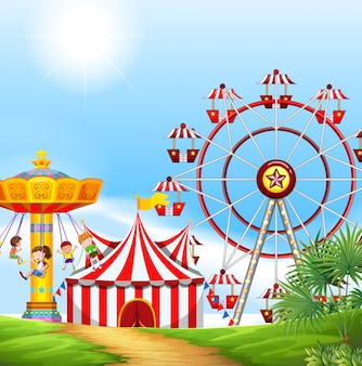 Enfants s'amusant au carnaval