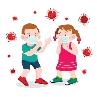 Les enfants s'inquiètent du virus corona