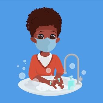 Les enfants se lavent toujours les mains.