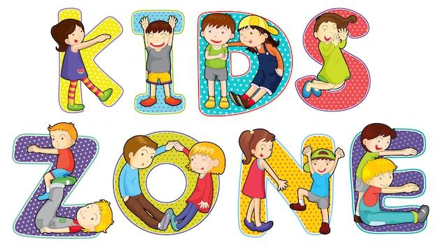 Enfants sur le symbole de la zone des enfants