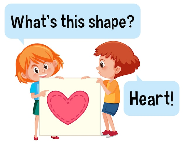 Enfants tenant une forme de coeur avec quelle est cette forme