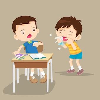Les enfants tombent malades