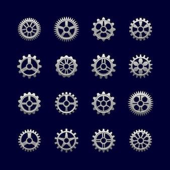 Engrenages métalliques et roues dentées pour la transmission.