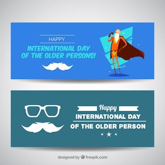 Enjoyable journée internationale de bannières âgées