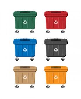 D'énormes poubelles peuvent être isolées sur blanc.