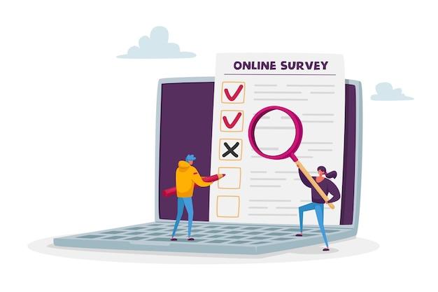 Enquête en ligne, commentaires des clients, taux de service, concept de vote