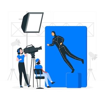 Enregistrement d'une illustration de concept de film