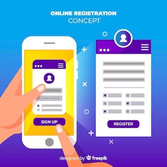 Enregistrement en ligne