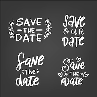 Enregistrer la collection de lettrage de mariage de date