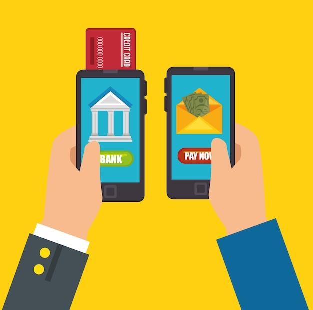 Enregistrer le concept d'argent des services bancaires mobiles