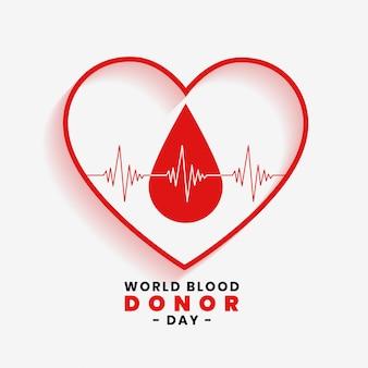 Enregistrer le concept de sang pour la journée mondiale du donneur de sang