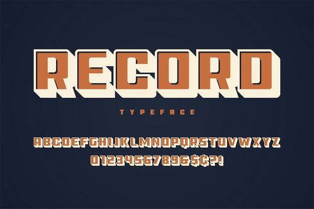 Enregistrer la conception des polices d'affichage, alphabet, police de caractères, majuscules