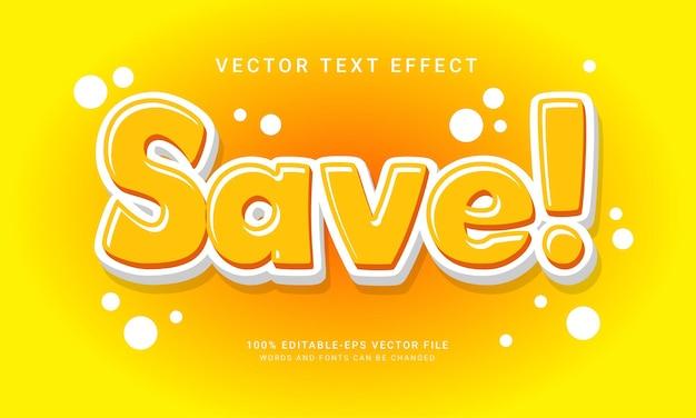 Enregistrer l'effet de style de texte modifiable comique avec la couleur jaune