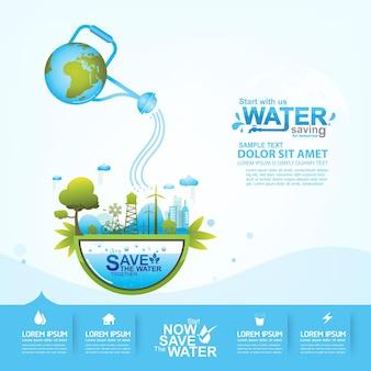 Enregistrer le fond bleu de l'eau.