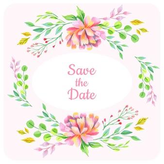 Enregistrer le fond floral de date