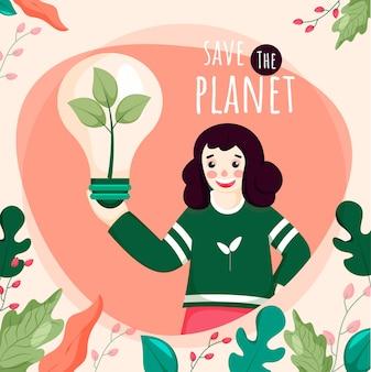 Enregistrer l'illustration du concept de planète