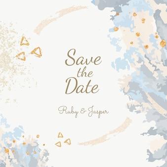 Enregistrer l'invitation de mariage de date