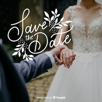 Enregistrer le lettrage de date avec photo