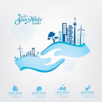 Enregistrer le modèle d'affiche de l'eau.