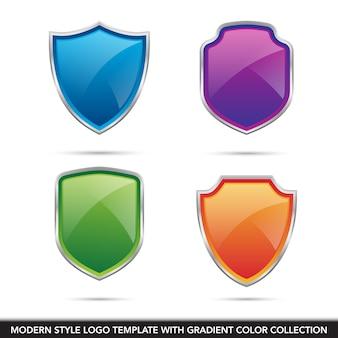 Enregistrer la technologie de protection du bouclier modèle de vecteur icône logo sécurisé