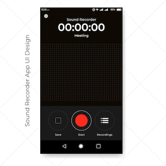 Enregistreur sonore ui app